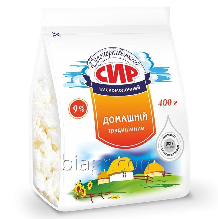 Творог «Домашний» 9% жир, 400 г, пакет