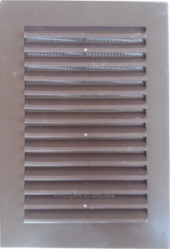 Купить Решетка вентиляционная пластиковая 17х24см. с москитной сеткой