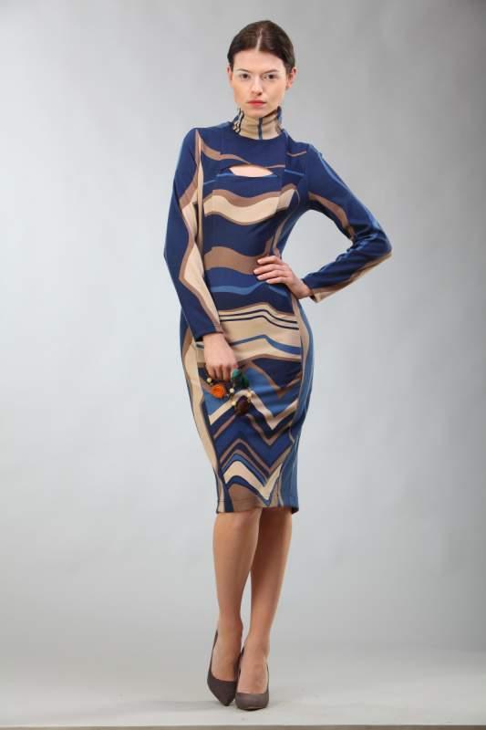 2a254a39fb8c109 Синее теплое платье купить в Тернополе