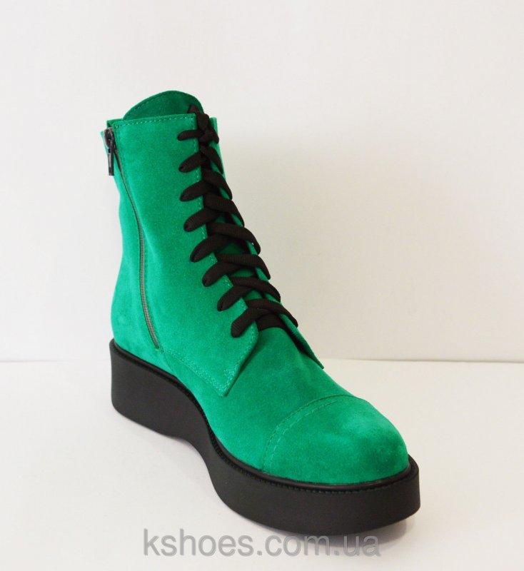 Купить Ботинки зеленые женские Kluchini 3407