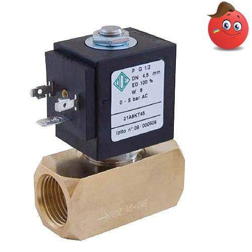 a808063ce3b Клапан электромагнитный ODE 21A8KB45 прямого действия НЗ 1 2