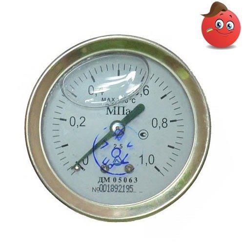 Buy Manovakuummetr glyceric axial DA 05100-07M-G (-0,1... +0,5 MPas) C. 1,5 M20x1,5
