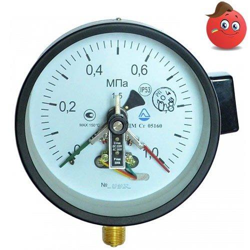 Buy Manovakuummetr electrocontact YES Sg 05100-01M (-100... +500 kPa) C. 1,5 M20x1,5