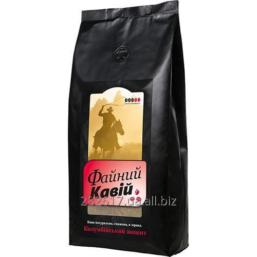 """Купить Кава в зернах, 1000 г. Файний кавій """"Колумбійський акцент"""""""