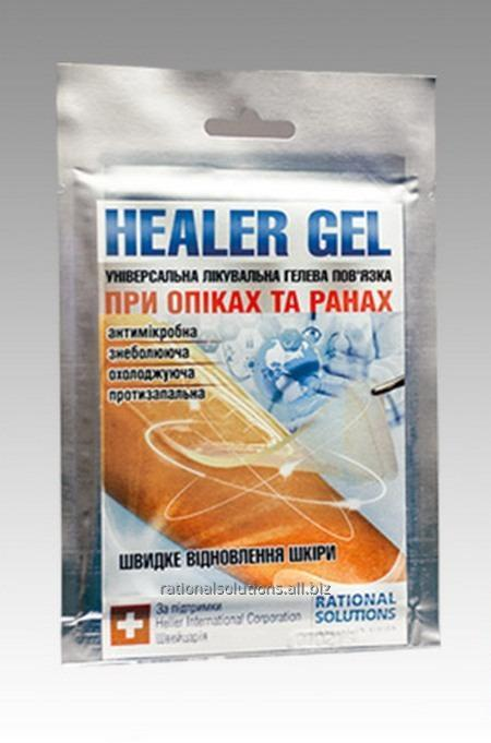 Gel bandage at burns and wounds of HEALER