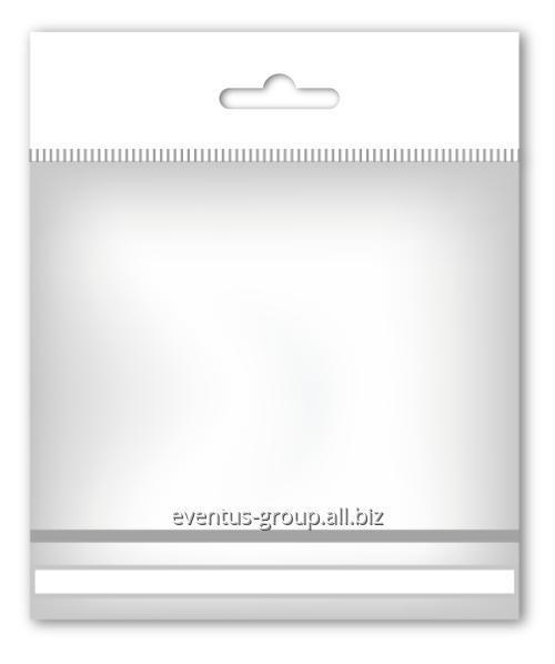 Пакет полипропиленовый с европодвесом и нижним клеевым клапаном
