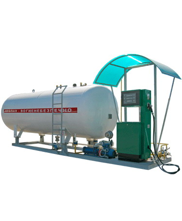 Газовая заправка, Газовый модуль. Автогазозаправочный пункт (АГЗП) с емкостью 10 куб. м