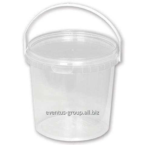 Ведро для пищевых продуктов прозрачное 1,1 л