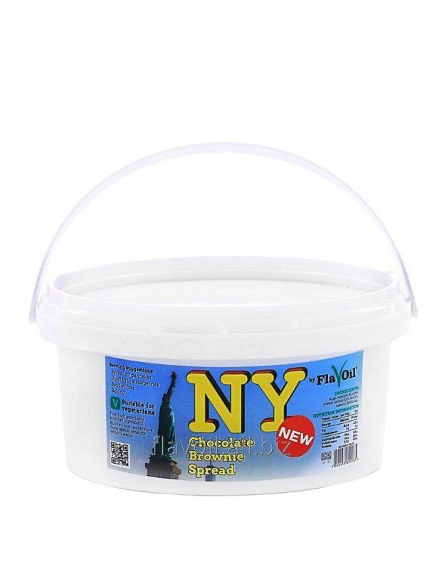 NY Brownie Spread  Volume: 250g/500g Type of packaging: Plastic tub