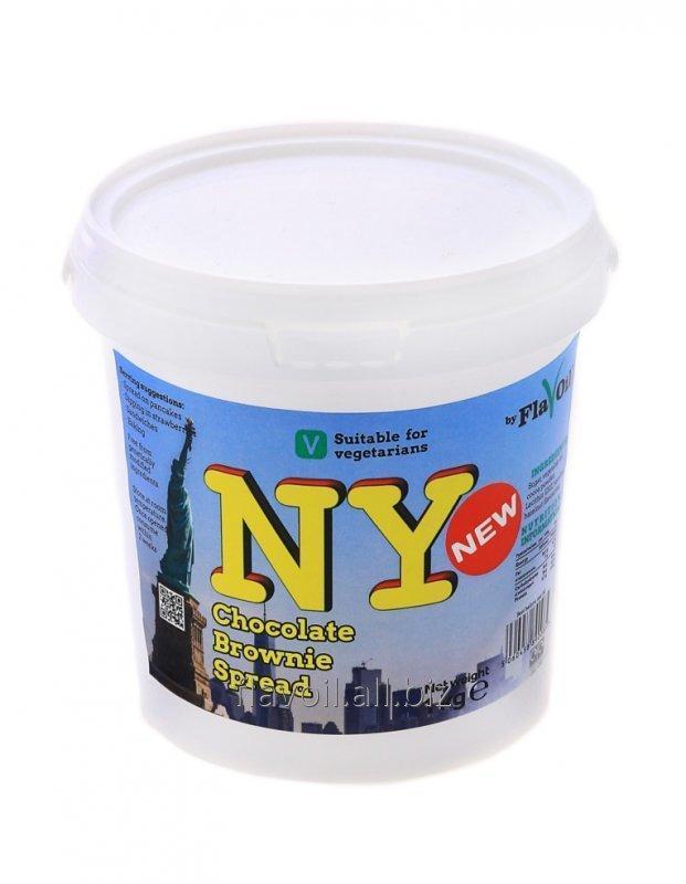 NY Brownie Spread  Volume: 1kg Type of packaging: Plastic bucket