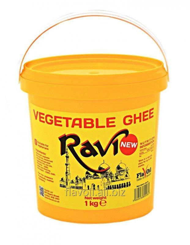 Ravi, Vegetable Ghee  Volume: 1kg Type of packaging: yellow buckets