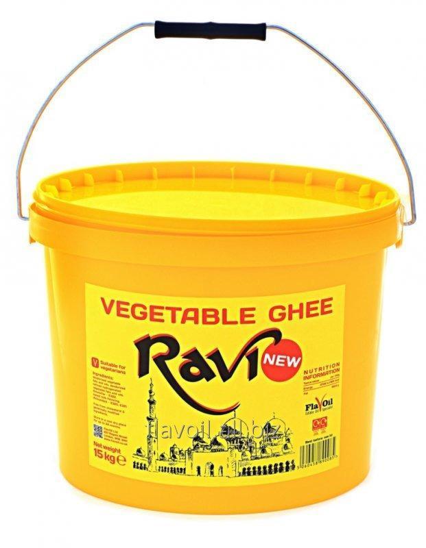 Ravi, Vegetable Ghee Volume: 15kg Type of packaging: yellow buckets