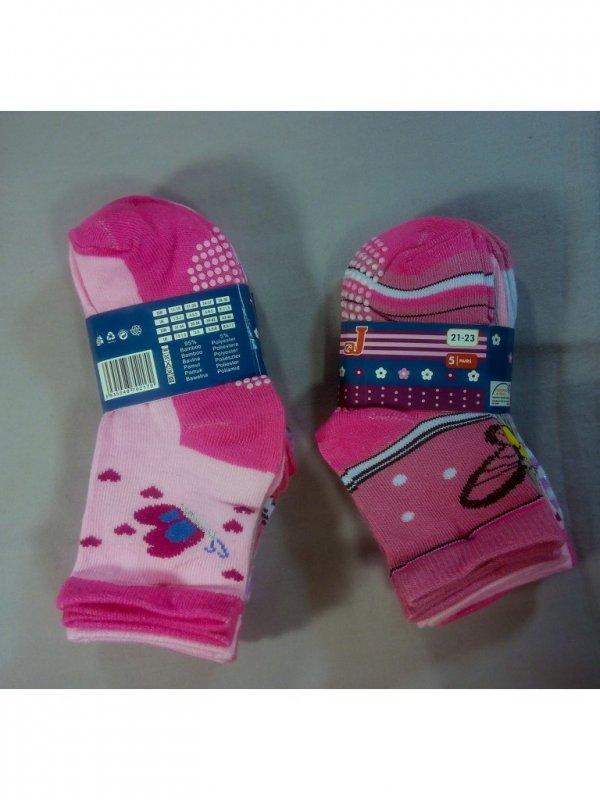 Купить Детские носки для девочек от 40 пар. Бамбук 95%, Полиэстер 5%.
