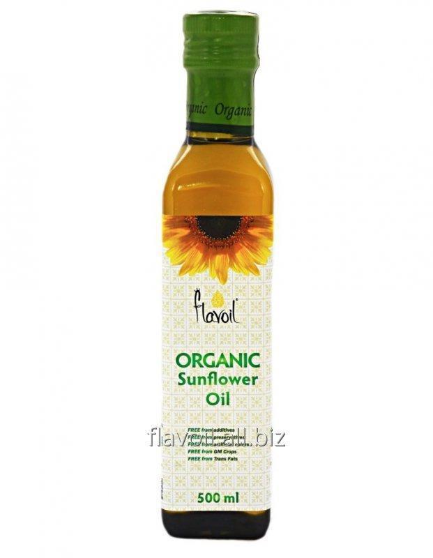 Organic Sunflower Oil  Volume: 500ml Type of packaging: glass bottle