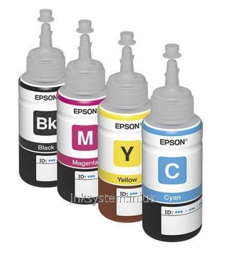 Оригинальные чернила для Epson L100 (70 мл, 4 цвета)