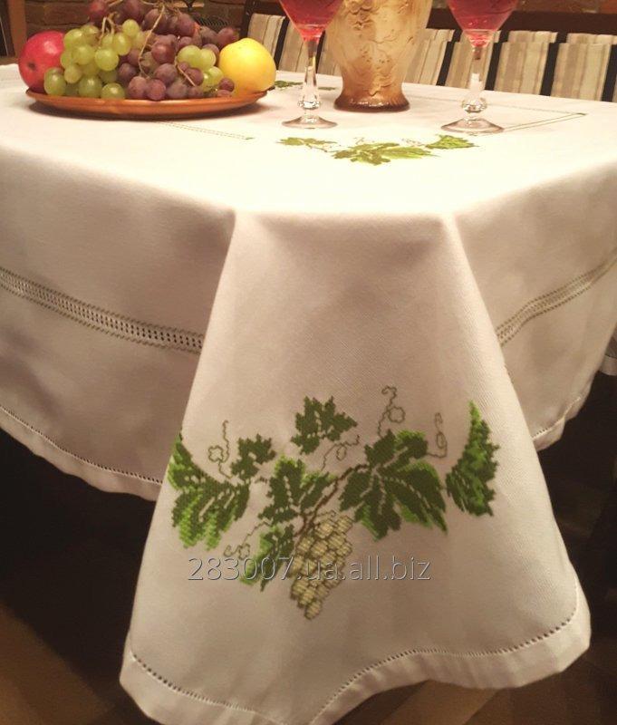 Купить Скатерть ручной вышивки Виноград