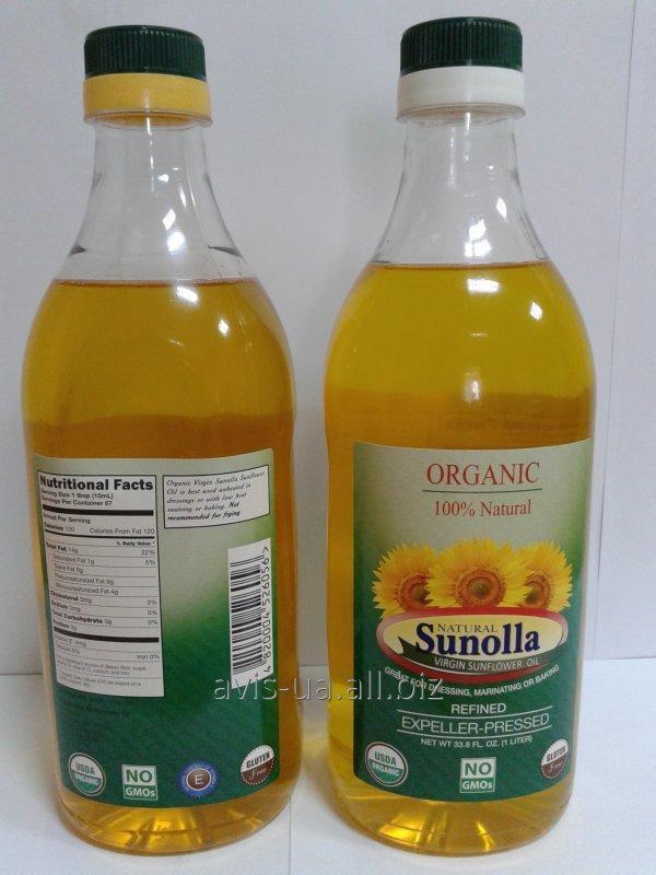 Подсолнечное органическое масло (линолевое, высокоолеиновое) 1L