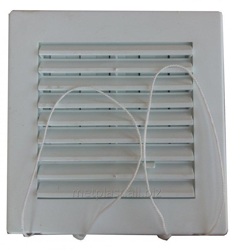 Купить Решетка вентиляционная пластиковая с жалюзями 17х17см
