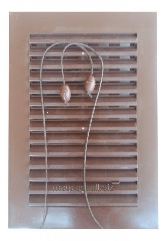 Купить Решетка вентиляционная пластиковая с жалюзями 17х24см