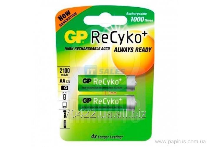 Аккумулятор GP AA 2100 mAh RECYKO  заряженные   210AAHCB - U2  , 2 шт / уп  упак.