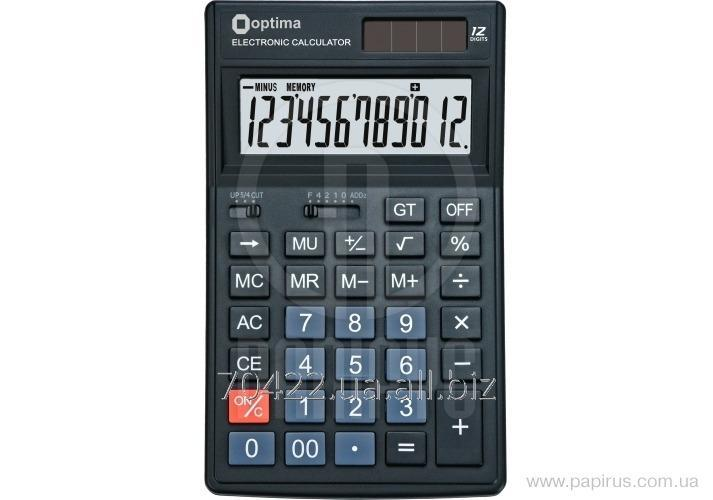 Калькулятор настольный Optima О75521
