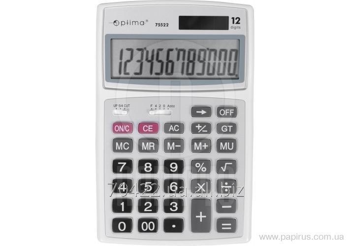 Калькулятор настольный Optima О75522