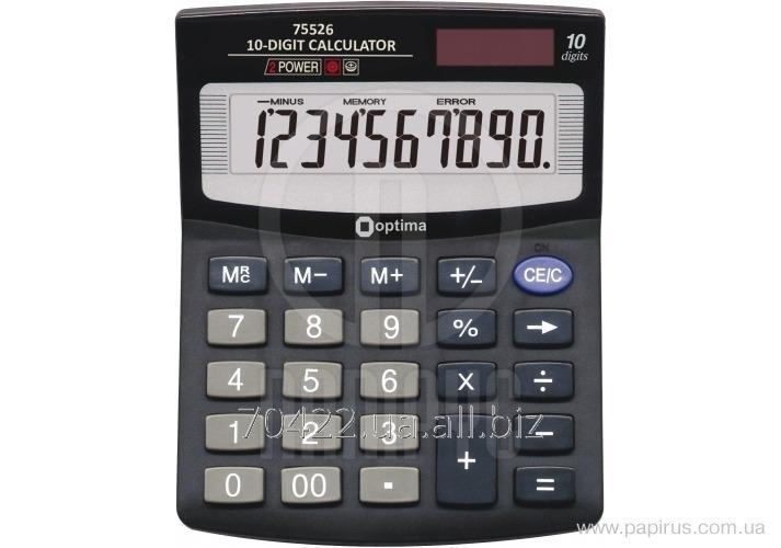 Калькулятор настольный Optima, 10 разрядов, размер 125 * 100 * 27 мм