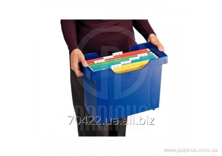 Купить Картотека для подвесных папок Plus, синий