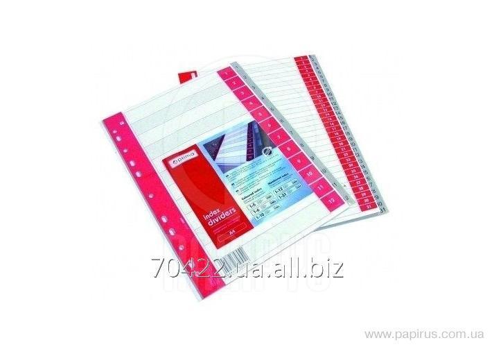 Купить Разделитель листов А4 Optima, пластик, 12 разделов, цифровой