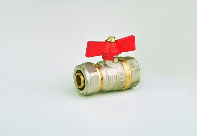 Кран-фитинг 16 х 1/2 в JG(шар латунный)