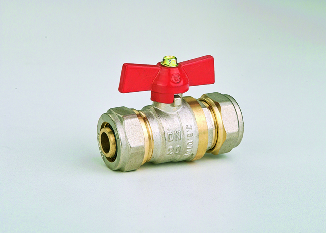 Кран-фитинг 16 х 16 JG(шар латунный)
