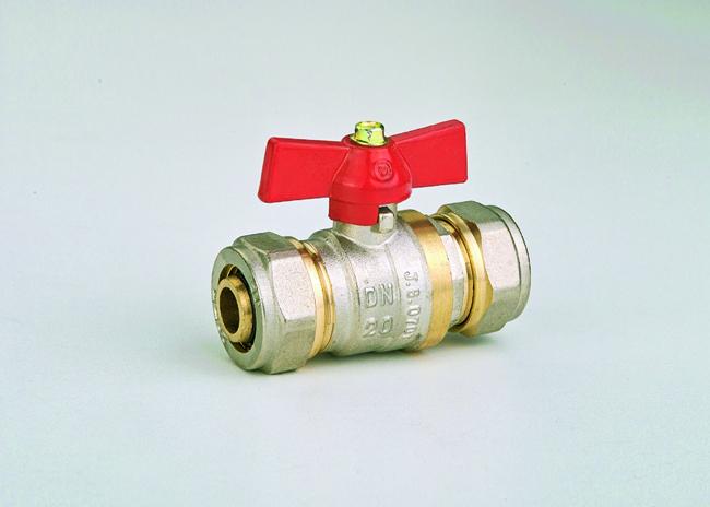 Кран-фитинг 20 х 20 JG(шар латунный)