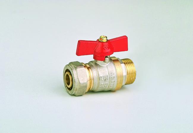 Кран-фитинг 20 х 3/4 н JG(шар латунный)
