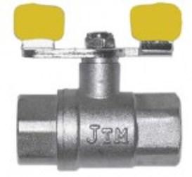 Кран шаровый 3/4 вв бабочка JTM газ