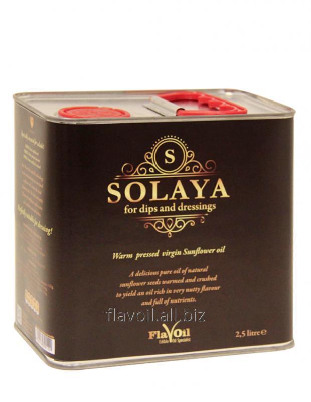 """""""Solaya"""" unrefined, warm-pressed Oil  Volume: 2.5L Type of packaging: Drum (metal)"""