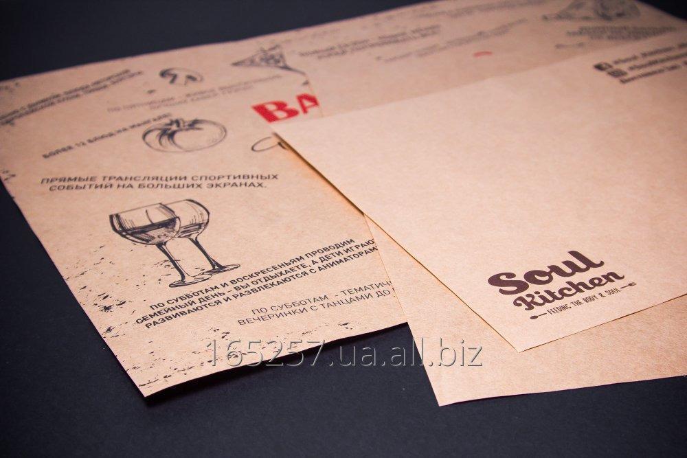 Купить Бумажные подложки (сеты, placemat) крафт
