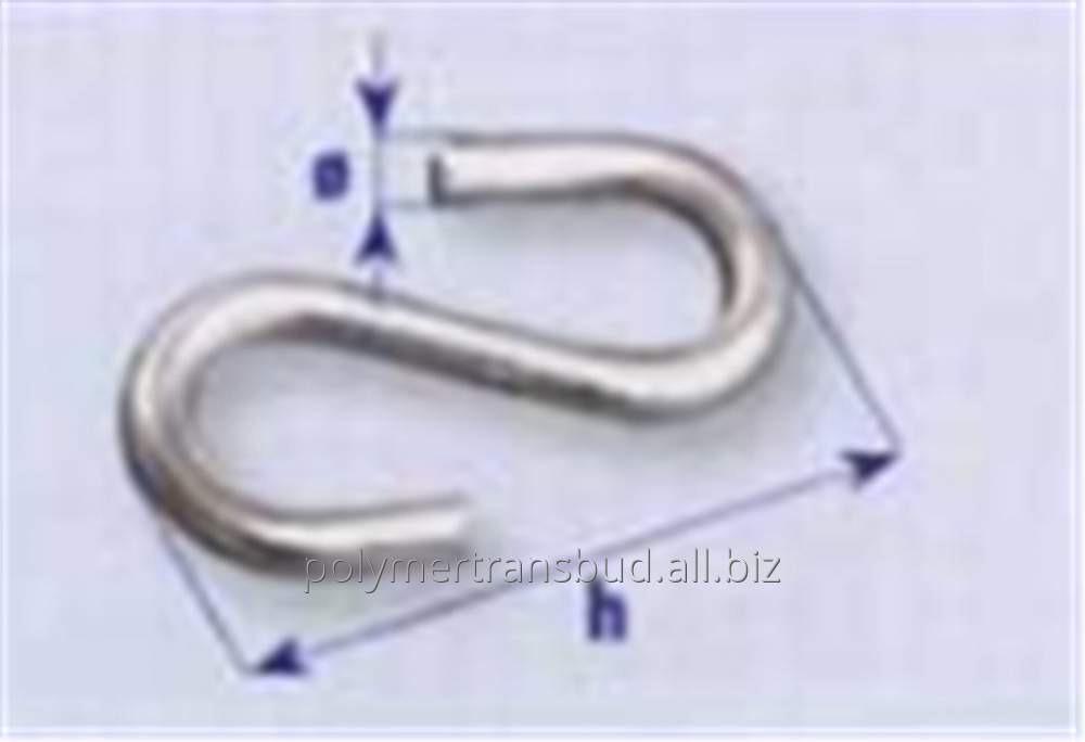 Купить Крючки S-образные оцинкованные