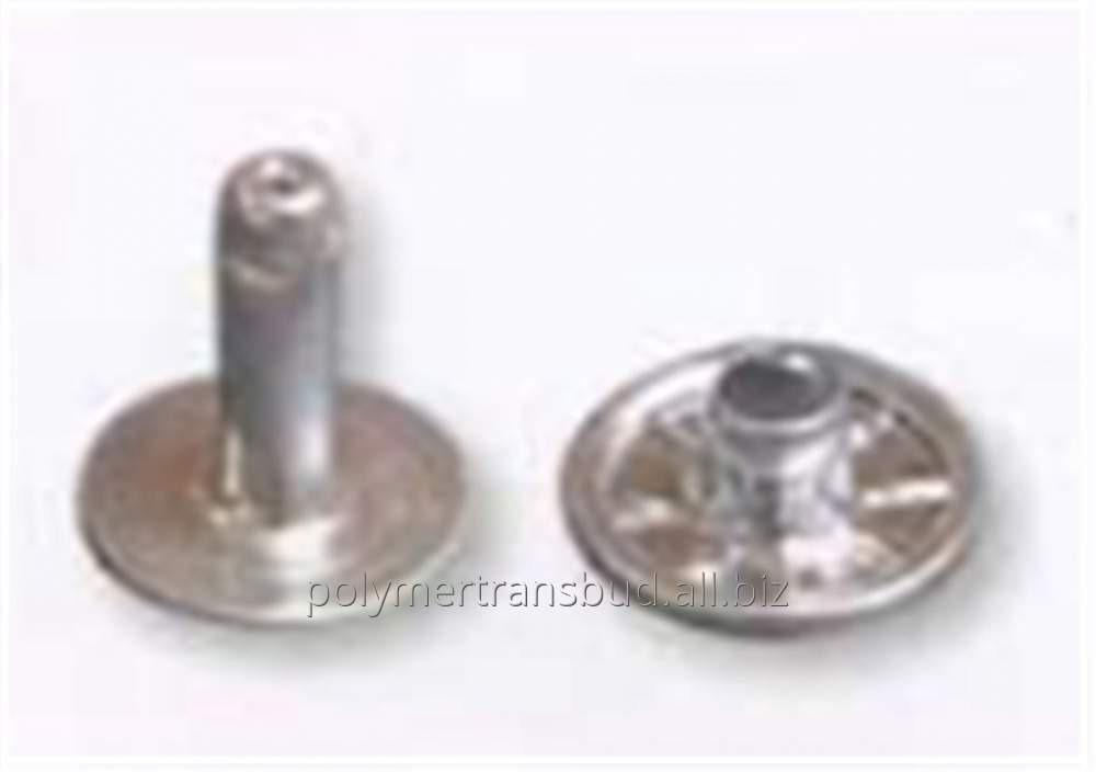 Купить Заклепка двойная никелированная