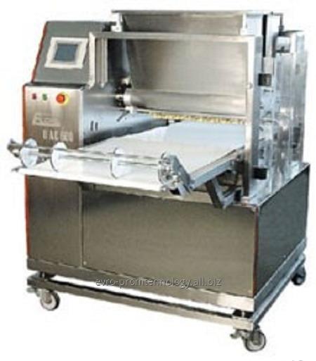 Оборудование для отсадки сдобного печенья на транспортерную ленту туннельной печи