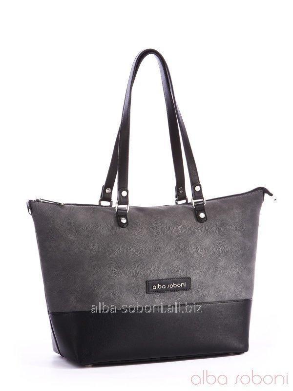 Сумка 162027 черно-серый