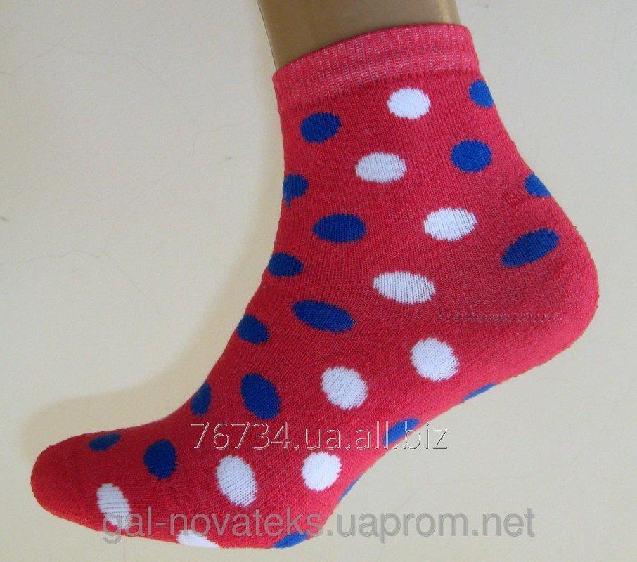 Носки подростковые махровые 22р Горошек