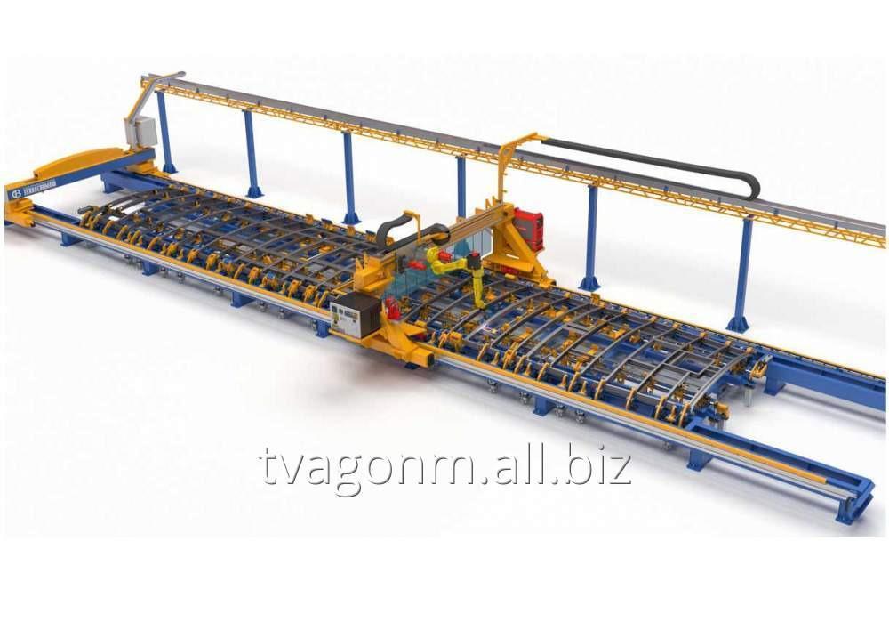 Купить Универсальный стенд сборки и роботизированной сварки крыш трамваев