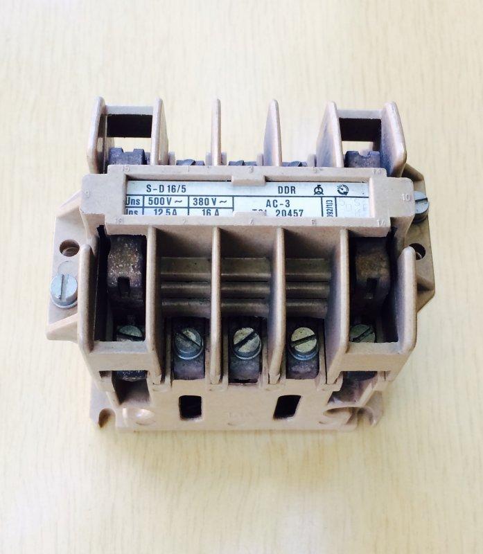 Купить S-D16/5 12,5-16А 220V 50Hz Контактор