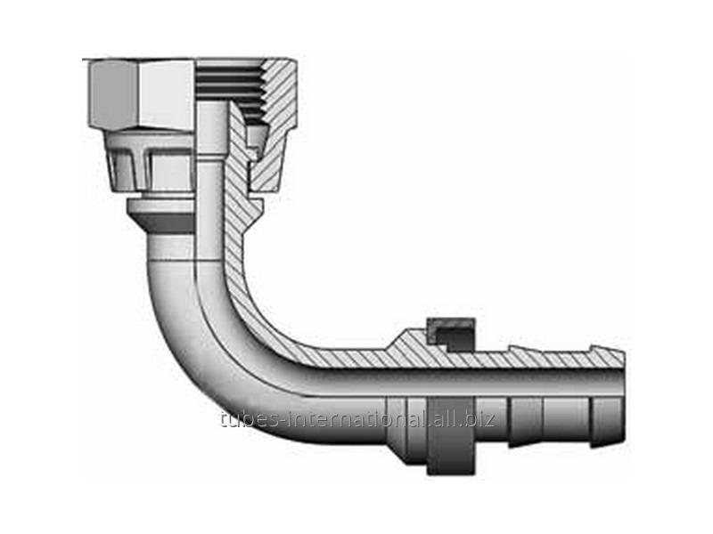 Фитинг Push-On 90° Метрическая резьба, конус 60°