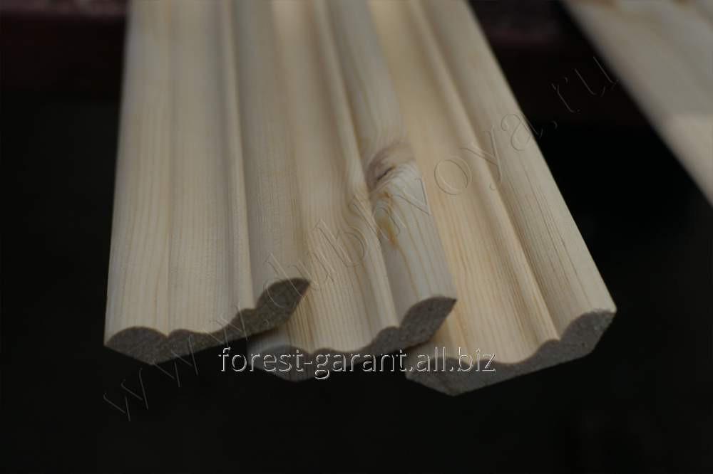 Плинтус деревянный  ясень, сосна, ольха, ясень, осина, липа