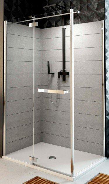 Купить Душевая дверь Aquaform HD COLLECTION 90 распашная со стенкой левая (103-09390)