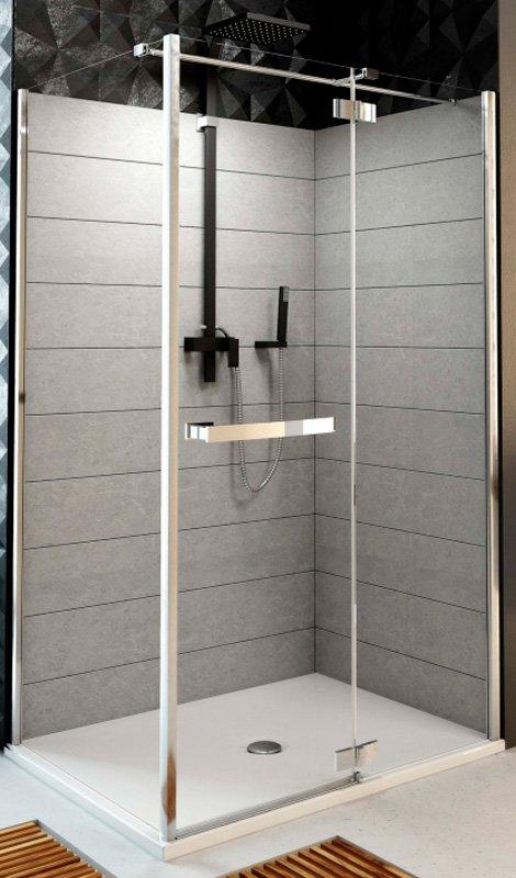 Купить Душевая дверь Aquaform HD COLLECTION 100 распашная со стенкой левая (103-09391)