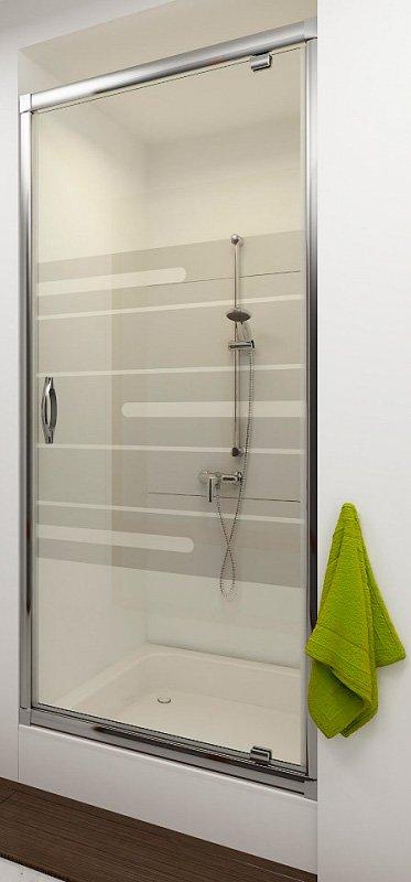 Купить Душевая дверь Aquaform LUGANO 90 распашная в нишу (103-06706)