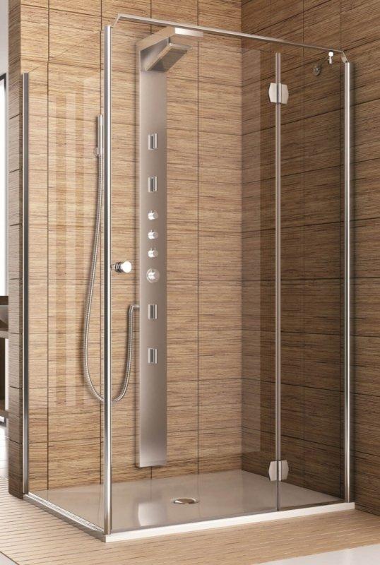 Купить Душевая дверь Aquaform SOL DE LUXE 90 разпашная со стенкой правая (103-06051)