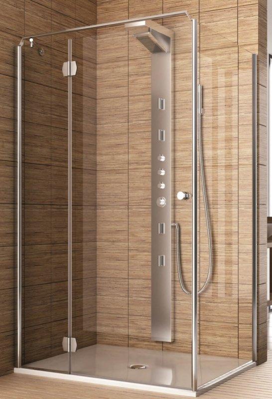 Купить Душевая дверь Aquaform SOL DE LUXE 90 разпашная со стенкой левая (103-06052)
